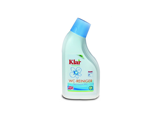 A Klar Öko-szenzitív WC-tisztító eltávolítja a vízkövet és az egyéb lerakódásokat, miközben óvja a környezetet is.