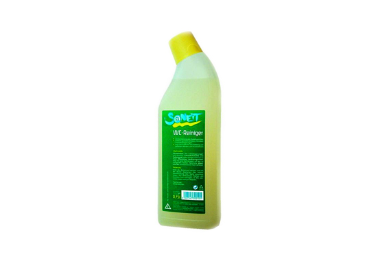 A Sonett WC-tisztító gél sűrű állagának köszönhetően a csövekben is kifejti hatását, emellett kíméli a környezetet, a fertőtlenítő hatást a fenyőolaj révén fejti ki.