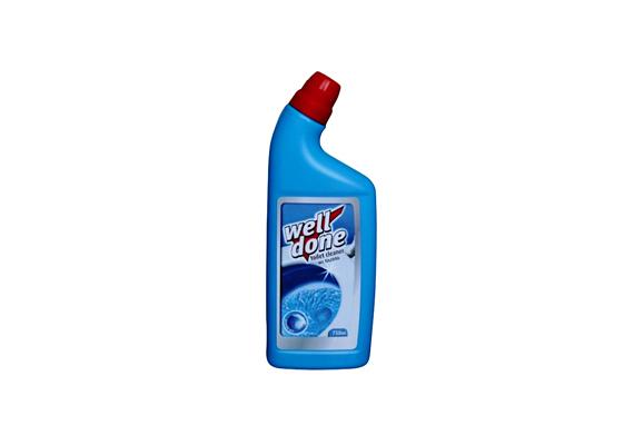 A Well Done WC-tisztító eltávolítja a vízkövet, fényt és csillogást kölcsönöz a tisztított felületnek, valamint rendkívül gyorsan hat.