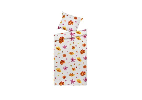 A JYSK virágmintás ágyneműje, az EXH EMA rózsaszín Bedding 3490 forintért kapható.