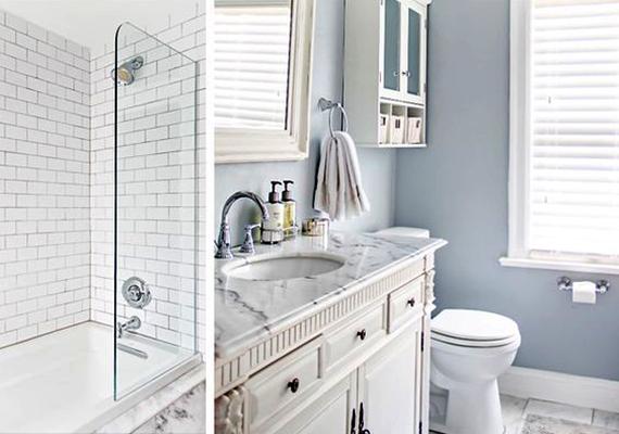 A legalapvetőbb tértágító tipp a fürdőszoba esetében is a világos színek alkalmazása, egyúttal a természetes fény hatásainak érvényesítése. Ha lehetőséged van rá, érdemes átfesteni a falakat. Ha pedig van ablak, ne tegyél rá redőnyt, elég egy kisebb függöny is, hogy ne lássanak be.