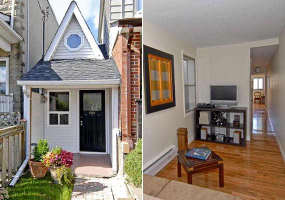 A kanadai Little House, vagyis kicsi ház 2,2 méter széles, illetve 14,3 méter hosszú.