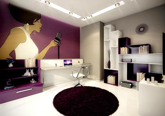 A futurisztikus berendezések is egyre több otthonban bukkannak fel. Az erős színek és a csillogóan fényes műanyaggal fedett bútorok kombinációja a 2013-as év egyik legkedveltebb trendje lesz az otthonszépítők körében.