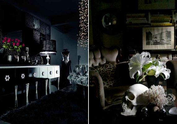 Variációk fekete és sötét nappalira, a feng shui javaslatainak teljes körű mellőzése mellett.