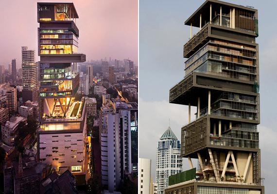 A Mumbai központjában fekvő Antilia áll a lista első helyén, értéke 1 és 2 milliárd dollár közé becsülhető. Cikkünkből többet is megtudhatsz róla.