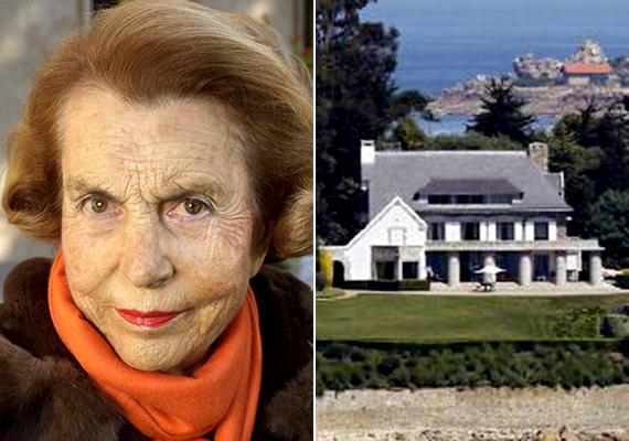 A világ második leggazdagabb, illetve Európa legvagyonosabb asszonya, Liliane Bettencourt a férfiakat is beleszámítva a tizedik legmódosabb ember a bolygón. A francia üzletasszony szintén örökségének köszönheti vagyonát, édesapja ugyanis Eugène Schueller volt, aki 1907-ben megalapította a mára szépségipari óriássá vált L'Oréalt. A képen a család Franciaországban, Bretagne-ban található villája látható, amelyet még az édesapa építtetett.