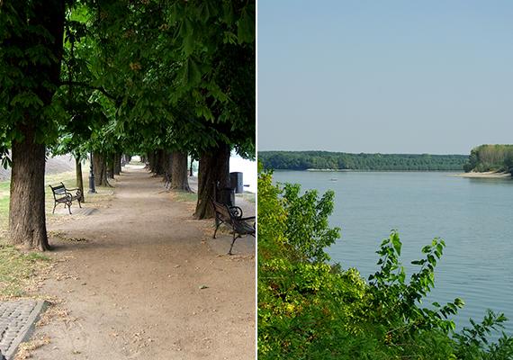 A második helyen szereplő Paks kiemelkedő gazdasági teljesítménye és dinamikus fejlődése főként atomerőművének köszönhető. A képeken egy paksi sétány és a Duna-part látható.