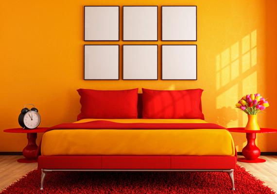 A narancssárga túl intenzív tónusa serkenti az agyi folyamatokat és az anyagcserét, ami negatív hatással lehet a pihenésedre.