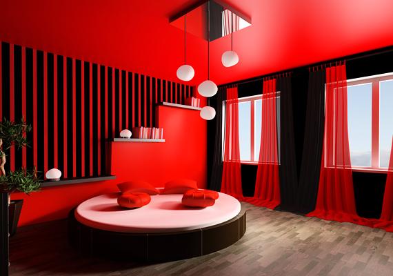 A feng shui nem ajánlja a nagyon intenzív pirosat a hálószobába, bármennyire is a szenvedélyt jelképezi ez a szín, ugyanis megakadályozza a nyugodt pihenést.