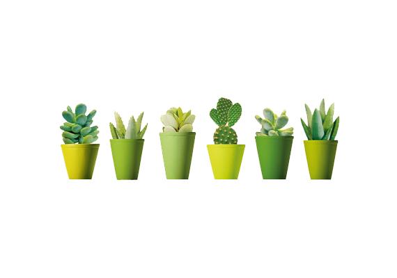 Az Ikea kaktuszos falmatricája dekoratív dísze lehet többek között a konyhának is. 1490 forintért kapható.