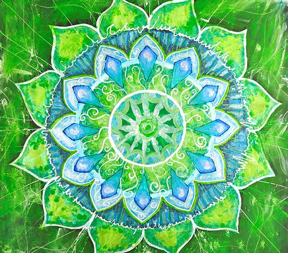A hagyományos mandalák koncentrikus, kör alakú képek, melyeket a szimmetria jellemez. Minden forma és szín más-más jelentést hordoz, más-más érzelmet és rezgést társít a képhez. Ide kattintva nagyobb méretben is eléred a képet.