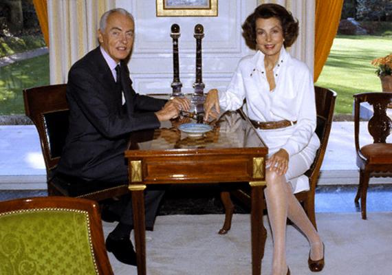 Andre és a mára megözvegyült Liliane Bettencourt Neuilly-sur-Seine-i otthonukban.