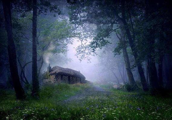 Van, aki mesébe, van, aki horrorfilmbe illőnek találja ezt a skóciai, erdő mélyén megbújó házat.