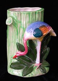 Váza flamingóval