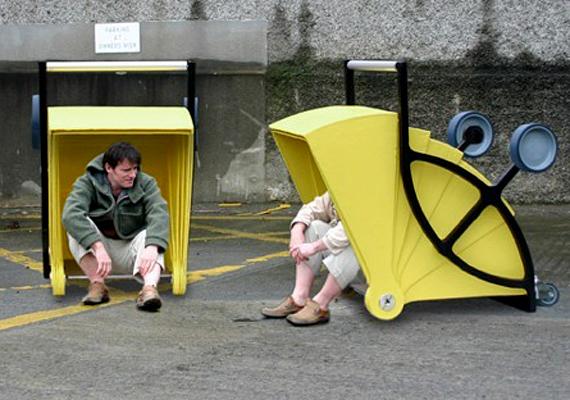 A kocsivá alakítható Shelter Cartot szintén a Zo-Loft Architecture & Design tervezte.