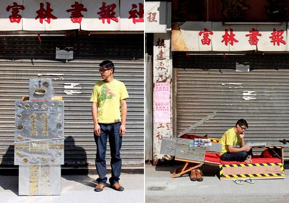 A Tin Man No.11 nevű apró menedéket Kacey Wong tervezte. Véleménye szerint az utcák dekorálására is alkalmas.