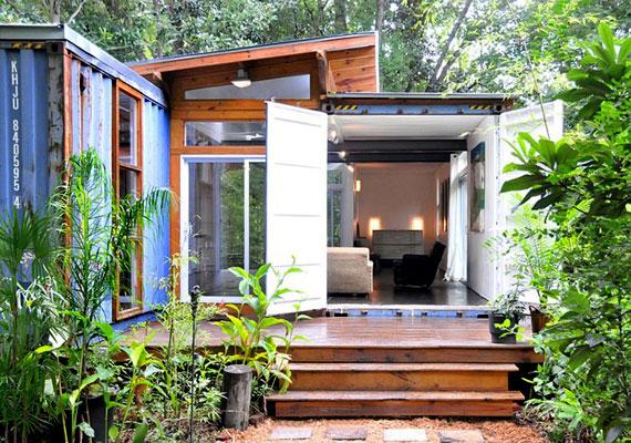 Terjednek a hangulatos otthonná varázsolt konténerházak is. A képen az úgynevezett Savannah projekt látható.