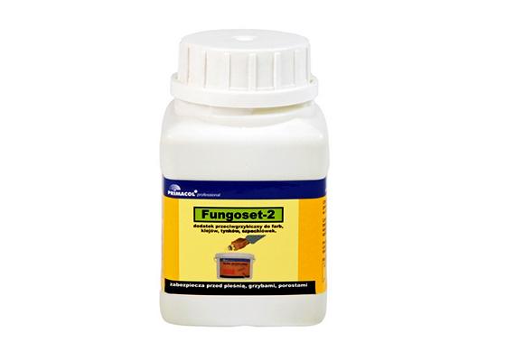 Mindemellett külön is lehet vásárolni festékekbe keverhető penészgátló adalékot. A képen látható Primacol Fungoset-2 penészgátló adalék 10 liter festékhez elegendő kiszerelése már 800 forint körüli áron kapható.