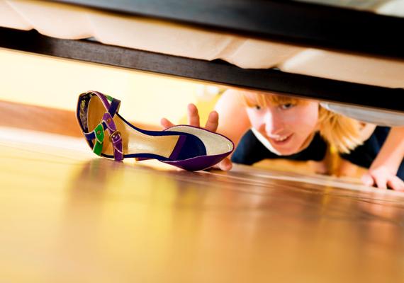 Az ágy alatti terület kritikus hely a por szempontjából.