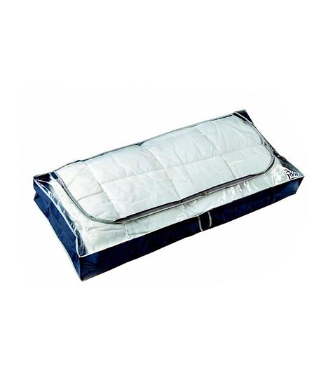 Ágy alatti tárolóHa van hely az ágy alatt, ne hagyd kihasználatlanul! A KIKA-ban megvásárolható tárolóban akár nagyobb paplanokat is tarthatsz. Tömd meg ritkán használt ruhákkal, cipzározd be, és már tolhatod is az ágy alá.
