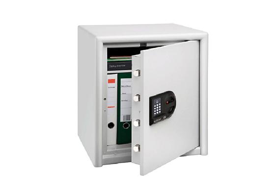 A Burg Wächter - Combi Line páncélszekrény már egy minőségibb darab, nem csupán méretét, hanem biztonsági funkcióit tekintve is. Zsanérvágás, flexelés és fúrás ellen is védett, sőt, harminc perces tűzvédelemmel is rendelkezik. A 15 literes űrtartalom már akár mappák tárolására is lehetőséget ad, a kivehető, állítható magasságú polc pedig az átlátható elrendezésben is segít. A páncélszekrény ára 85 690 forint, a terméket itt rendelheted meg.