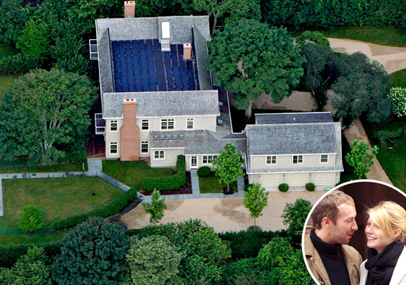 Gwyneth Paltrow és férje, Chris Martin a hamptonsi Amagansettben szeret pihenni.