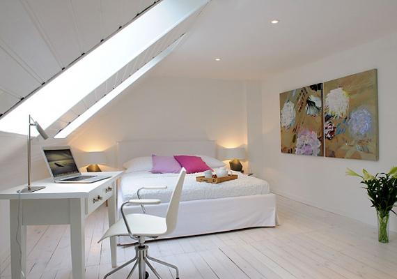 Bár a fehér szín tisztaságot és biztonságot sugároz, sterilitása miatt ne alkalmazd a hálószobában, ha szeretnéd azt intim hangulatúvá tenni.