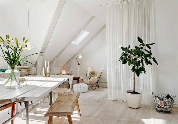 Térelválasztónak használhatsz akár légies függönyöket vagy alacsonyabb bútorokat is.