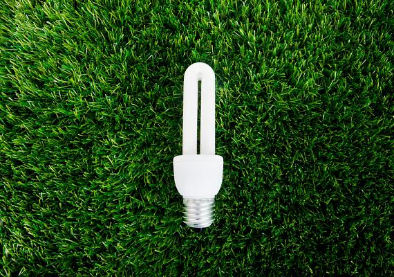 Az energiatakarékos fénycsövek negyedannyi energiát fogyasztanak, mint a hagyományos izzók.