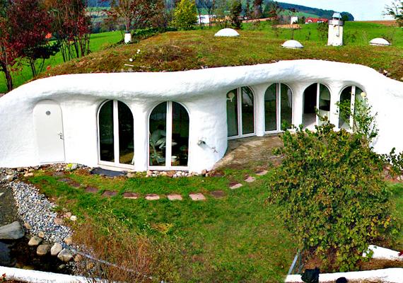 Egy svájci cég, a Vetsch földházak néven kínálja épületeit, melyből már kilenc létezik. A házak védve vannak az esőtől, a széltől és az extrém hőmérséklettől is.