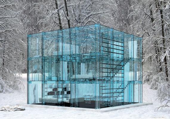 A gyönyörű, üvegfalú ház a Santambrogiomilano tervezése.