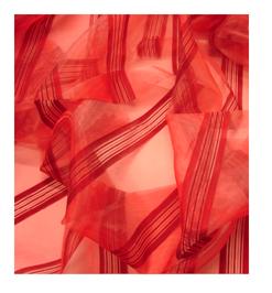 ROKA málna színű organza függöny - 1690 forint / m