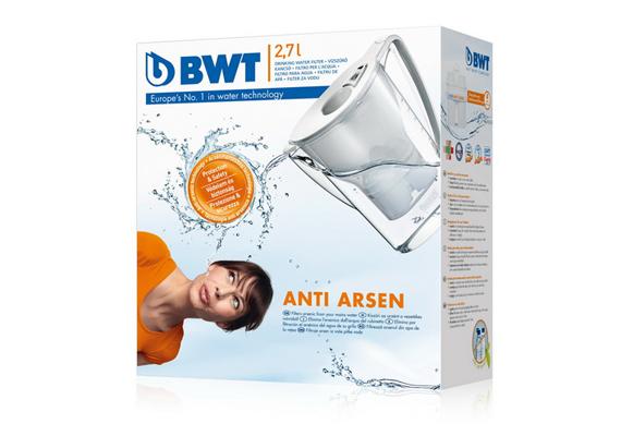 A BWT arzénszűrő kancsóját kifejezetten a hazai viszonyok alapján fejlesztették ki. 7000-8000 forint körül kapható szűrőbetéttel együtt.