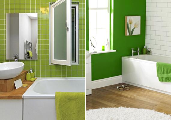 Regeneráló hatása miatt a színterapeuták szerint érdemes olyan helyiségekben használni a zöld színt, amelyek szintén ezt szolgálják. Ilyen például a fürdőszoba.
