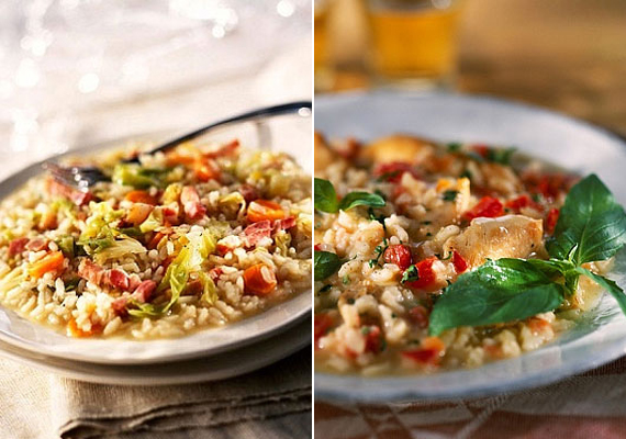 Csirkés rizottó                         Rizottót szinte bármivel készíthetsz, amihez épp kedved szottyan, zöldségekből, bármilyen húsból, egy a lényeg: a megfelelő rizs. Szerencsére ma már egyre több boltban kapható a megfelelő alapanyag, így könnyedén igazi rizottót varázsolhatsz az asztalra.
