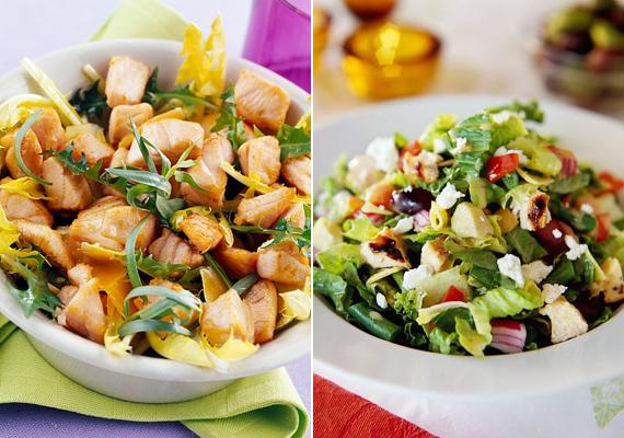 Csirkesaláta zöldségekkel, ha valami könnyűre vágysz.