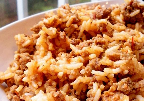 A csirkés rizses hús isteni savanyúsággal.