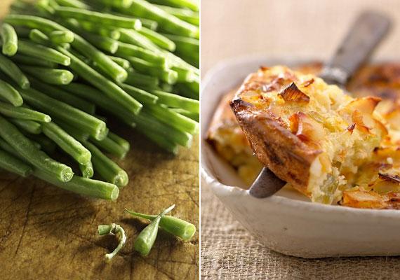 Rakott zöldbab                         Zöldbabot sokféleképpen készíthetsz, azonban talán a rakott változat a legnépszerűbb mind közül, egyrészt, mert nagyon finom, másrészt pedig azért, mert fillérekből összedobhatod, és az egész család, sőt, még a szomszédok is jóllaknak vele.