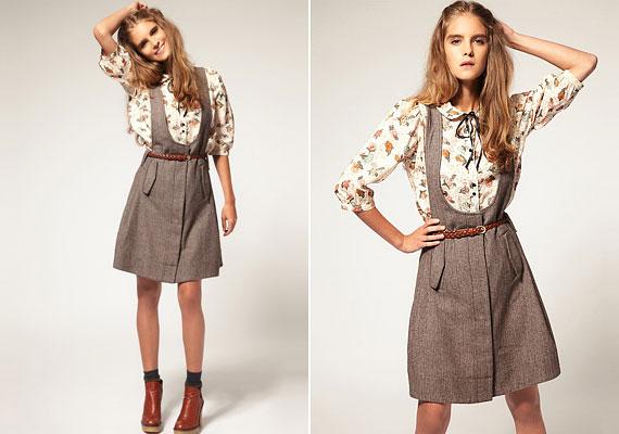 A kantáros, derékban szabott nadrág és szoknya játékosan varázsol nőies formákat.