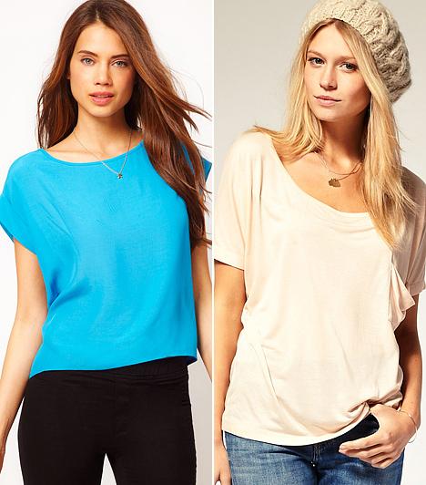 Alapdarabok  A jól bevált T-vonalú pólókat sem kell sarokba dobni idén, mert a csajos és nőies trendek egyaránt beemelték a repertoárjukba. Világos és élénk színekben üdék, frissek és fiatalosak.