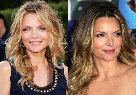 Az 55 éves Michelle Pfeiffer jobban néz ki, mint karrierje kezdetén. Bár az arca már nem olyan hamvas, mint anno volt, a színésznő büszke arra, hogy még soha nem botoxoltatott.