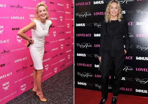 Az 55 éves Sharon Stone sem panaszkodhat, az Elemi ösztönből megismert dögös színésznő alakja sok huszonévesével vetekszik.