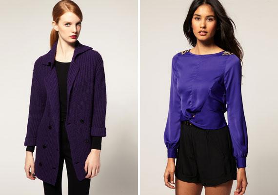 A sötétlila komor szín, inkább élénk árnyalattal dobd fel az öltözéked.