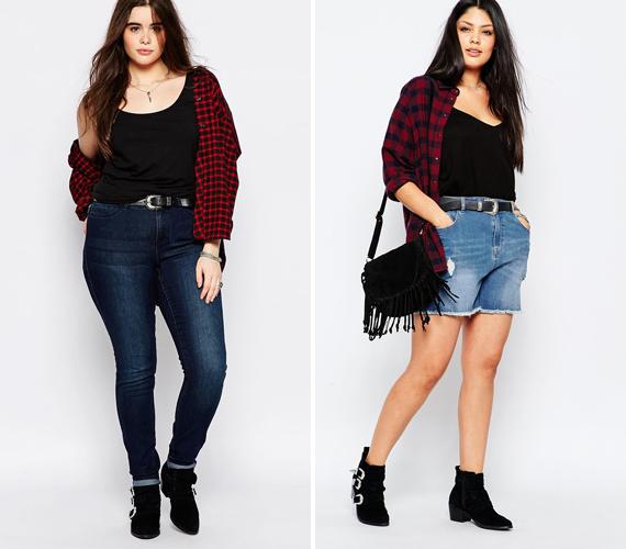 Ahogy melegszik az idő, lassan elhagyhatod a dzsekit, ám egy könnyű ing még jól jöhet a póló fölé. Ha a képen látható módon viseled, sötétebb egyszínű pólóval és világosabb kockás inggel, még karcsúsít is az összeállítás, hiszen a sötétebb alsó réteg vékonyabbnak mutat. Már csak egy magas derekú farmerra és néhány kiegészítőre van szükséged, hogy egy nőies, kissé vadnyugati szettet kapj.