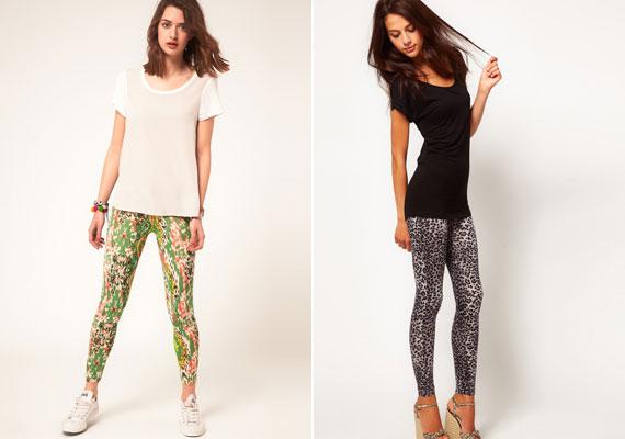 A leggings is trendi, de inkább válassz egyszínűt, a mintás darabok nem tesz jót az alaknak.