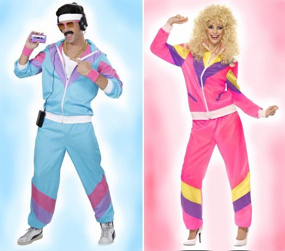 Színek tekintetében ez a korszak minden volt, csak visszafogott nem. A trendi megjelenés lényegében egyet jelentett a neonszínű holmik viseletével a fiatalok számára, akik a rózsaszíntől az élénksárgáig mindent magukra vettek.