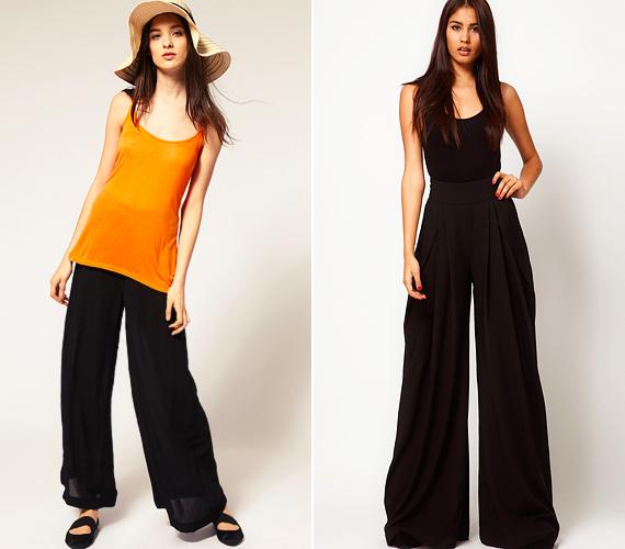Az A-vonalú nadrágok általában megnyújtják az alakot, de a túlzottan bő szárú verzióik, az úgynevezett sátorfazonok, inkább az ellenkezőjét váltják valóra.
