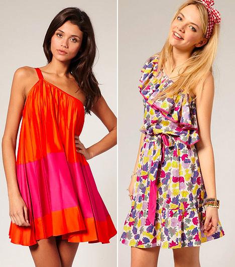 Félvállas ruhák  Attól, hogy széles a vállad, még nem kell elrejtened, inkább vesd be a félvállas ruhák trükkjeit. Az átlós dekoltázs optikailag lecsal a vállkerületedből. Ha sportos a testalkatod és hangsúlytalan a csípőd, egy lefelé bővülő ruhafazonnal egyensúlyba hozhatod az arányaidat.