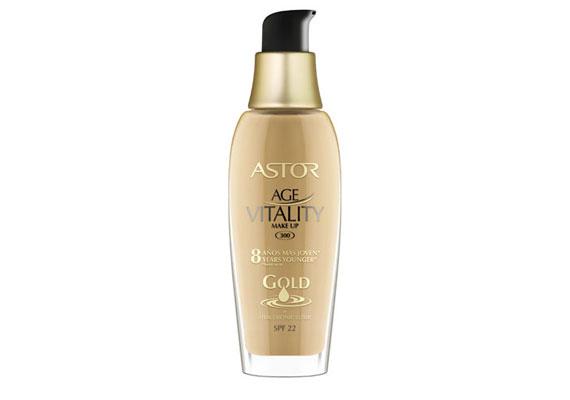 Astor Age Vitality - C-vitamint és fényvédőt tartalmazó, hosszan tartó alapozó, ami eltünteti az apróbb ráncokat.