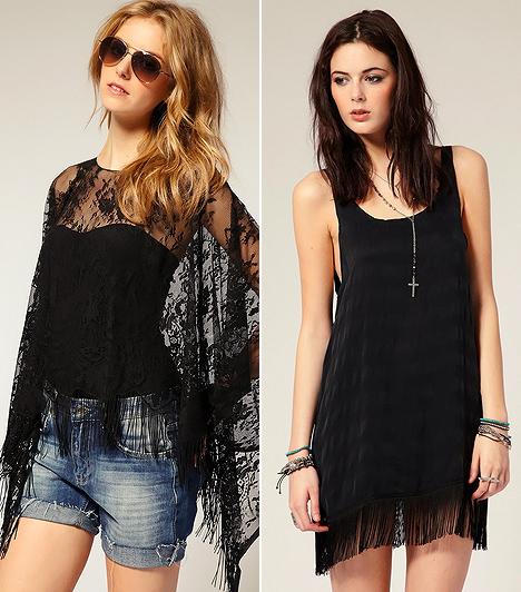 Glam rock  A szexi divatelemeket elegyítő rockos stílus elemében van a fesztiválok ideje alatt. Ez persze nem azt jelenti, hogy csak abban a közegben sütheted el. Bár a fekete szín kissé komornak tűnik így nyáron, egy sejtelmesen áttetsző csipkeponcsóval, farmersorttal, illetve egy lágy esésű ruhával ellensúlyozhatod a zárkózottságát.